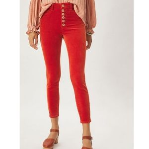 Anthropologie Pilcro High-Rise Button-Fly Cords